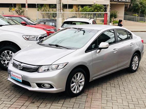 Honda Civic 2.0 Lxr Flex Automático 2014 , Bancos Em Couro..