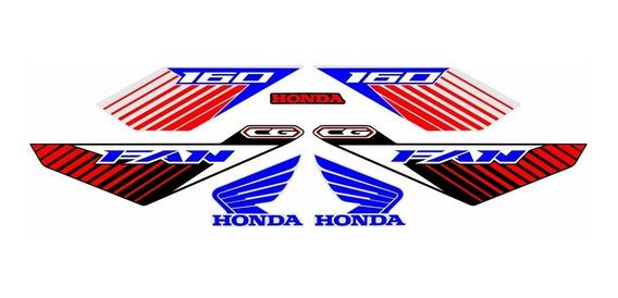 Adesivo Faixas Emblema Cg Fan 160 2020 Personalizados