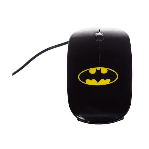 Mouse Plástico Batman Dc Preto