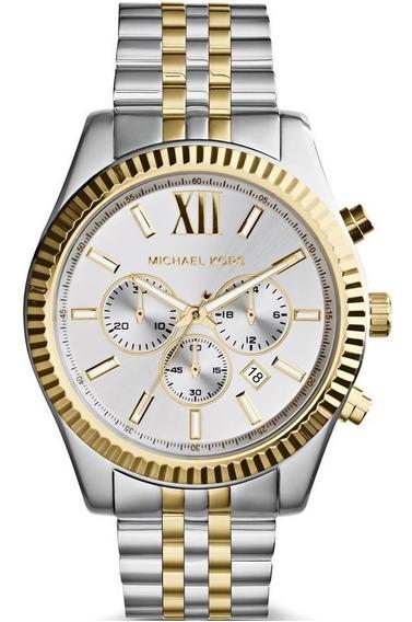 Relógio Michael Kors Feminino Mk8344/1ki Cronóg. Lexington