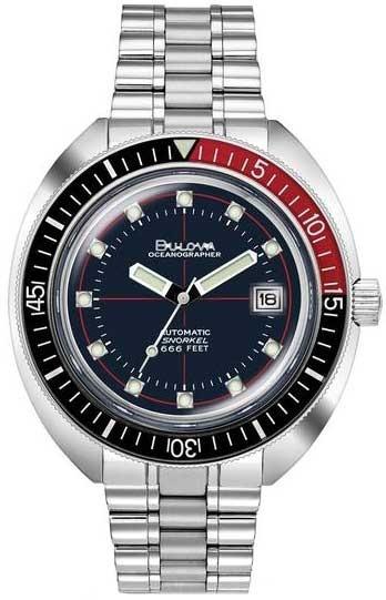 Relógio Bulova Masculino Automático Oceanographer 98b320 Dev