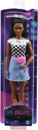 Imagem 1 de 7 de Barbie Big City Big Dreams Brooklyn Mattel Negra Fashionista