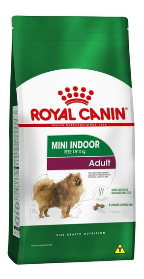 Ração Royal Canin Mini Indoor Adult Size Health Nutrition cachorro adulto raça pequena mix 7.5kg
