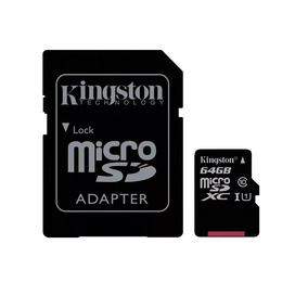 Cartão Memória Kingston Microsdxc 64gb Classe 10 + Adaptador