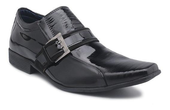Sapato Perlatto Couro Verniz Preto 3810