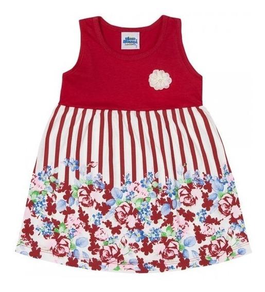 Vestido Infantil Menina Regata Vermelho