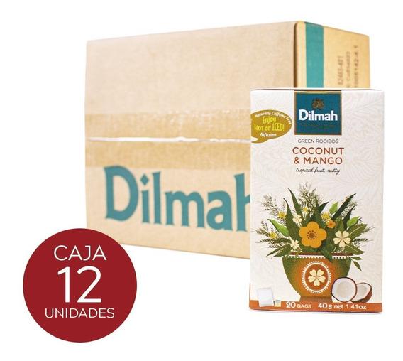 Infusión Dilmah Coco Y Mango Caja 12 Unidades.