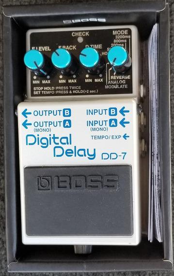Boss Digital Delay Dd7 Seminovo Na Caixa