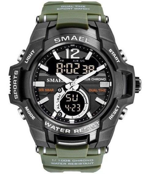 Reloj Militar Smael 1805 S Shock Táctico 50m Sumergible