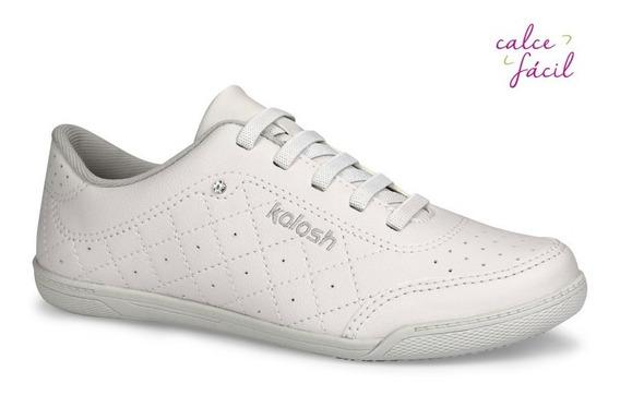 Tênis Kolosh Feminino Casual Branco Preto C1301