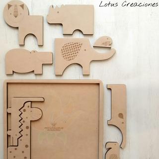 Rompecabezas Puzzle Jungla -corte Láser-