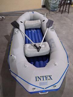 Bote Intex Seahawk 2 + Inflador+remos