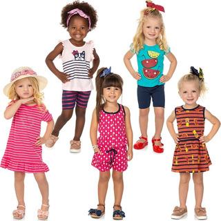 Roupa Bebê Infantil Menina Kit Roupinhas De Verão Kit 7 Pcs