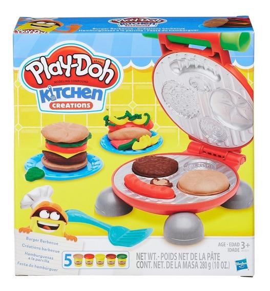 Juego De Masas Play Doh Cocina Parrilla Hasbro B5521 5 Masas