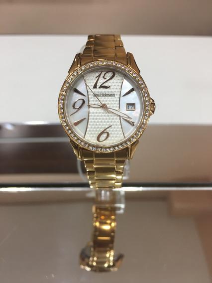 Relógio De Pulso Ana Hickmann Ah28544 Rose Perolado Feminino