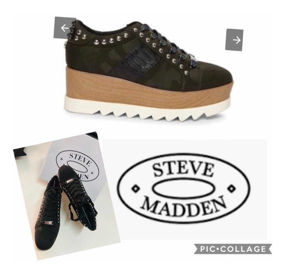 Steve Madden Tenis Camuflaje Originales Nuevos