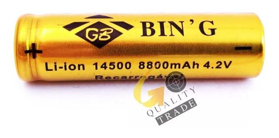 Bateria Recarregável Li-ion P/ Lanterna 14500 4.2v 6800mah