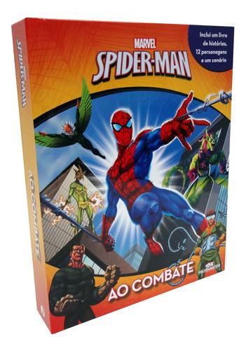 Imagem 1 de 2 de Livro Com 12 Miniaturas - Marvel Spider-man Ao Combate
