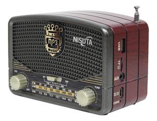 Parlante Radio Retro Vintage Nisuta Ns-rv16 Bluetooth/fm/am