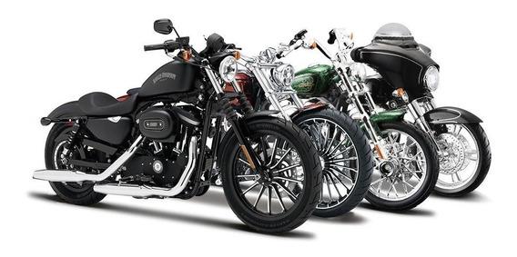 Motos A Escala 1:12 Maisto Harley Davidson De Coleccion