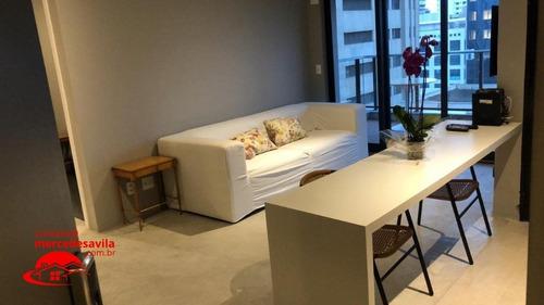 Imagem 1 de 15 de Apartamento Mobiliado -  Uma  Vaga  52,88 M² - V-103796