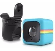 Câmera De Ação Full Hd Cube Polaroid Azul + Suporte P/ Bici