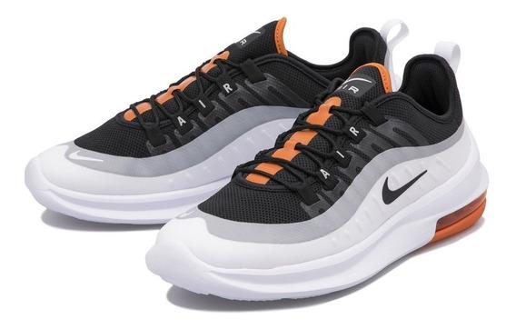Tenis Nike Air Max Axis Blanco Ngo Naranja 25.5-28 Original.