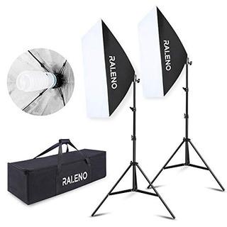 Raleno Softbox Kit De Iluminacion De Fotografia Sistema De I