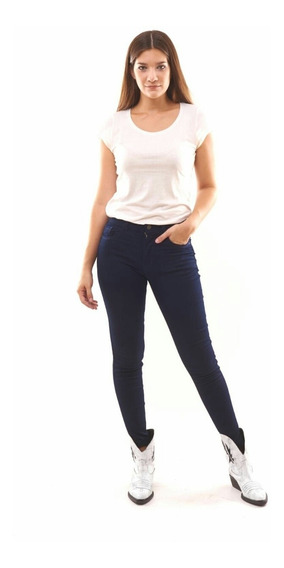 Jean Elastizado Tiro Alto Mujer Chupin Talle 36 Al 60