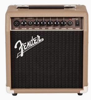 Amplificador Fender Acoustasonic 15 Para Guitarra Y Microfon