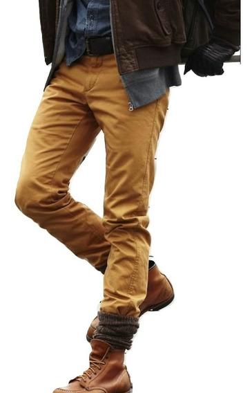 Jeans Chupin Color Hombre Elastizado Be Yourself Ventas