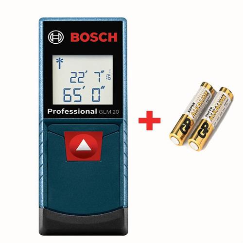 Imagen 1 de 8 de Medidor Distancia Laser Metro Digital Bosch Glm 20 M