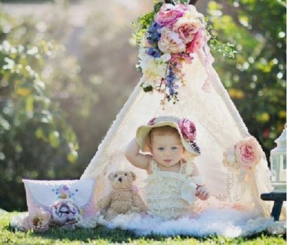 Mini Cabana Renda Acessórios Fotográfico Newborn E Acompanha