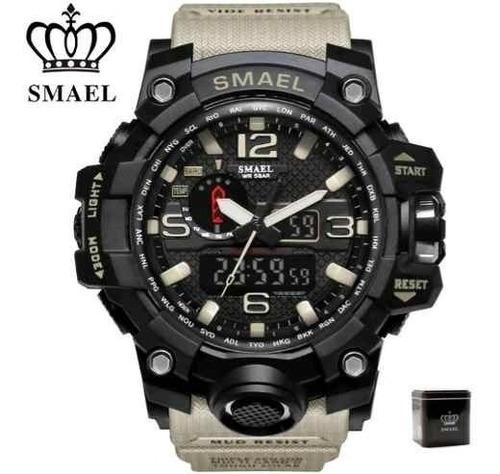 Relógio Smael Original Na Caixa Tático Militar Prova D'água