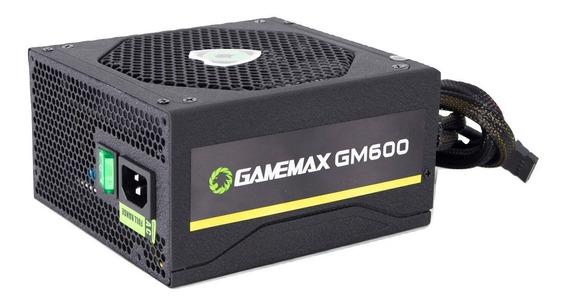 Fonte Gamer Gamemax Gm600 600w 80 Plus Bronze Pfc Ativo Mod