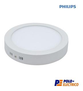 Plafon Led Philips 12w Aplicar Techo Panel Redondo