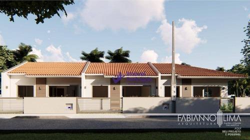 Imagem 1 de 4 de Casa Com 2 Dormitórios À Venda, 66 M² Por R$ 210.000,00 - Rainha Do Mar - Itapoá/sc - Ca0636