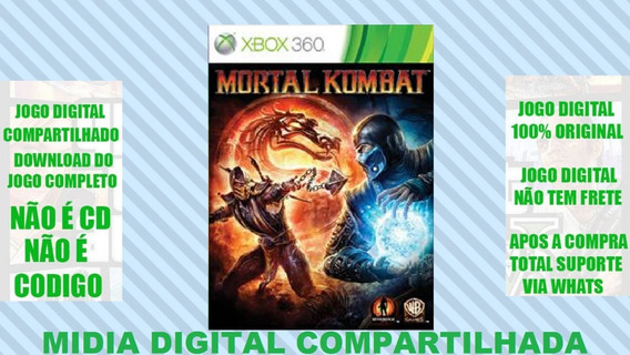 Jogo Mortal Kombat 9 Xbox 360 Midia Digital Mg Games
