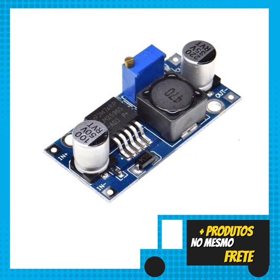 Regulador De Tensão Step Down Buck Dc-dc Lm2596 3a-cod.19