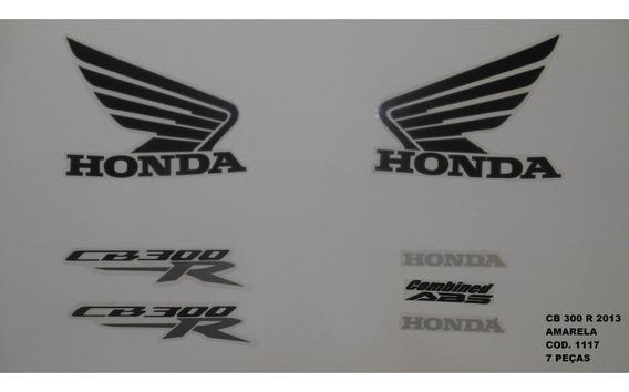 Faixa Adesivo Completo Honda Cb 300r Amarelo - 2013 - 13