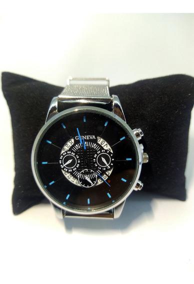 Relógio Masculino Geneva Multi Funciona Luxuoso Executivo