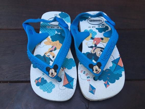 Ojotas Havaianas Mickey Bebe Talle 22