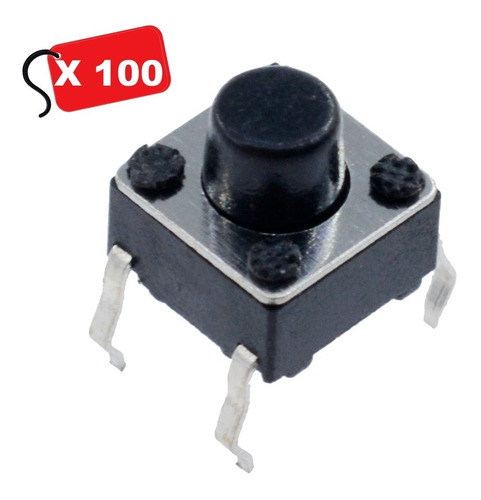Micro Pulsadores Switches Switch Boton Mini 6x6x6mm On/off