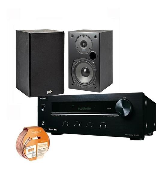 Kit Stereo Onkyo Tx8220+polk T15+inakustik