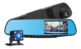 Camara Auto Reversa Frontal Seguridad Dvr Smart 1080p Espejo
