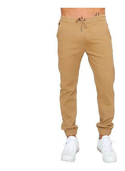 Pantalón Hombre Caballero Jeans Jogger Gabardina Kakhy Casua