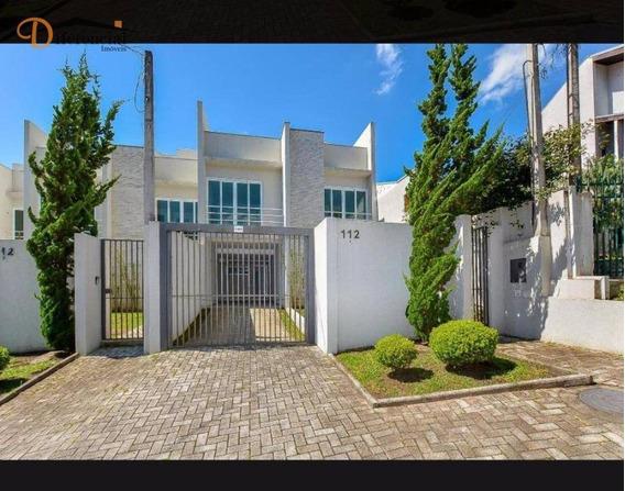 Sobrado Com 4 Dormitórios À Venda, 165 M² Por R$ 850.000 - Vista Alegre - Curitiba/pr - So0126
