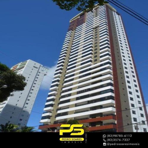 (oportunidade)  Apartamento Com 4 Dormitórios À Venda, 216 M² Por R$ 1.522.234 - Manaíra - João Pessoa/pb - Ap4286