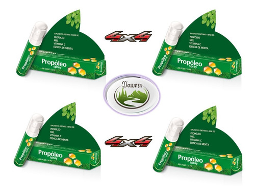 Poweza Pack 4x4 Propoleo Spray Mega - Refrescante!!