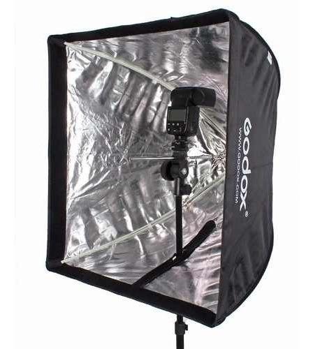 Softbox Grande 60x60 Universal Para Flash Tocha Luz Continua